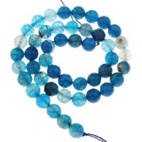 Natürliche Streifen Achat Perlen, Drachenvenen Achat, rund, verschiedene Größen vorhanden & facettierte, Bohrung:ca. 1mm, verkauft per ca. 15 ZollInch Strang