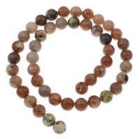 Jade Perle, rund, verschiedene Größen vorhanden, Bohrung:ca. 1mm, verkauft per ca. 15 ZollInch Strang