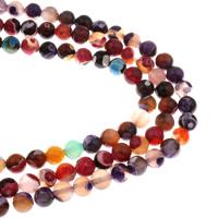 Feuerachat Perle, rund, verschiedene Größen vorhanden, keine, Bohrung:ca. 1mm, verkauft per ca. 15 ZollInch Strang