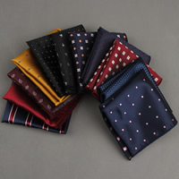 Unisex Taschentuch, Polyester, Quadrat, verschiedene Muster für Wahl, 230x230mm, verkauft von PC