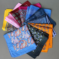 Unisex Taschentuch, Polyester, Quadrat, verschiedene Muster für Wahl, 340x340mm, verkauft von PC