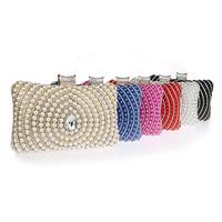 Unterarmtasche, Polyester, mit ABS-Kunststoff-Perlen & Kristall & Zinklegierung, Rechteck, facettierte & mit Strass, keine, 200x50x110mm, verkauft von PC