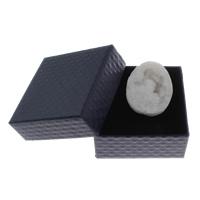 Natürliche Eis Quarz Achat Perlen, Eisquarz Achat, mit Zettelkasten, kein Loch, 36x46x21mm-47x37x22mm, 1PCs/Box, verkauft von Box