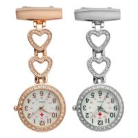 Hängende Uhr, Zinklegierung, mit Glas, plattiert, verschiedene Stile für Wahl & mit Strass, frei von Nickel, Blei & Kadmium, 28x85mm, verkauft von PC