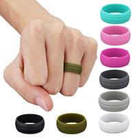 Unisex-Finger-Ring, Silikon, verschiedene Größen vorhanden, keine, 9mm, verkauft von PC