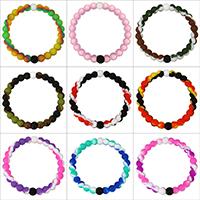 Unisex-Armband & Bangle, Silikon, unterschiedliche Länge der Wahl & verschiedene Muster für Wahl, 8mm, verkauft von Strang