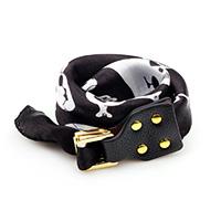 Polyester Armband, mit Kuhhaut & Zinklegierung, Platinfarbe platiniert, mit Totenkopf-Muster & für Frau & 2 strängig, schwarz, 25mm, verkauft per ca. 16.5 ZollInch Strang
