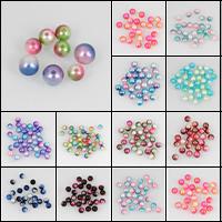 ABS-Kunststoff-Perlen, rund, verschiedene Größen vorhanden, keine, Bohrung:ca. 1mm, verkauft von Tasche