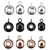 Edelstahl Kaution Perlen, plattiert, keine, 6x11x8mm, Bohrung:ca. 2mm, 200PCs/Menge, verkauft von Menge