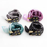 Polyester Armband, mit Kuhhaut & Zinklegierung, Platinfarbe platiniert, für Frau & 2 strängig, keine, 25mm, verkauft per ca. 16.5 ZollInch Strang