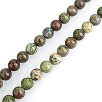 Drachen Blutjaspis Perle, rund, natürlich, verschiedene Größen vorhanden, verkauft per ca. 15 ZollInch Strang
