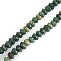 Türkis Perlen, gelbe Türkis, Rondell, verschiedene Größen vorhanden & facettierte, verkauft per ca. 15.5 ZollInch Strang