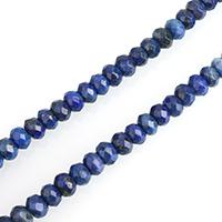 Lapislazuli Perlen, natürlicher Lapislazuli, Rondell, verschiedene Größen vorhanden & facettierte, verkauft per ca. 15 ZollInch Strang