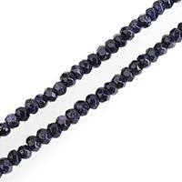 Blaue Goldstein Perlen, blauer Goldsand, Rondell, natürlich, verschiedene Größen vorhanden & facettierte, verkauft per ca. 15 ZollInch Strang