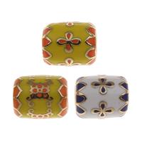 Messing European Perlen, goldfarben plattiert, verschiedene Muster für Wahl, frei von Nickel, Blei & Kadmium, 13x11mm, Bohrung:ca. 5mm, verkauft von PC