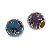 Messing European Perlen, goldfarben plattiert, keine, frei von Nickel, Blei & Kadmium, 10x11mm, Bohrung:ca. 4mm, verkauft von PC