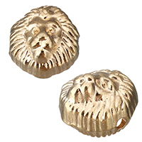 Zinklegierung Tier Perlen, Löwe, goldfarben plattiert, frei von Nickel, Blei & Kadmium, 12x12.50x8mm, Bohrung:ca. 1.5mm, 1000PCs/Menge, verkauft von Menge