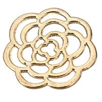 Zinklegierung Blume Anhänger, goldfarben plattiert, hohl, frei von Nickel, Blei & Kadmium, 22x21x1.50mm, 500PCs/Menge, verkauft von Menge