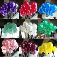 Ballone, LatexMilchsaft, gemischte Farben, 20-25cm, 100PCs/Tasche, verkauft von Tasche