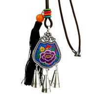 Zinklegierung Pullover Halskette, mit Wollschnur & Nylonschnur & Harz, Langlebigkeit Lock, Platinfarbe platiniert, für Frau, frei von Blei & Kadmium, 75x55mm, verkauft per ca. 31 ZollInch Strang