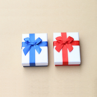 Karton Schmuckset Kasten, Papier, Fingerring & Ohrring & Halskette, mit Schwamm, Rechteck, keine, 70x90x30mm, 30PCs/Menge, verkauft von Menge