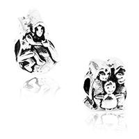 Zink Legierung Europa Perlen, Zinklegierung, antik silberfarben plattiert, verschiedene Stile für Wahl & ohne troll, frei von Nickel, Blei & Kadmium, Bohrung:ca. 4.5mm, 10PCs/Menge, verkauft von Menge