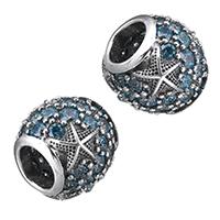 Thailand European Perlen, Trommel, verschiedene Verpackungs Art für Wahl & ohne troll & mit kubischem Zirkonia, Bohrung:ca. 4.5-5mm, verkauft von PC