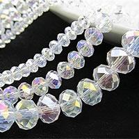 Kristall-Perlen, Kristall, bunte Farbe plattiert, verschiedene Größen vorhanden & facettierte, Bohrung:ca. 0.5-1.2mm, verkauft von Tasche