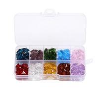 Kristall-Perlen, Kristall, verschiedene Stile für Wahl & facettierte, 4x8mm, 14mm, Bohrung:ca. 1-2mm, verkauft von Box
