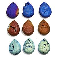 Achat Perlen, Tropfen, keine, 22x30x7mm, Bohrung:ca. 1mm, Länge:ca. 6 ZollInch, 3SträngeStrang/Menge, ca. 6PCs/Strang, verkauft von Menge