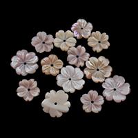 Natürliche Rosa Muschelperlen, Blume, verschiedene Größen vorhanden, Bohrung:ca. 1mm, 50PCs/Tasche, verkauft von Tasche