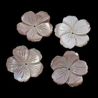 Natürliche Rosa Muschelperlen, Blume, 35x3mm, Bohrung:ca. 1mm, 10PCs/Tasche, verkauft von Tasche