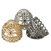 Zinklegierung Perlenkappe, plattiert, keine, frei von Blei & Kadmium, 22x19mm, Bohrung:ca. 1.5mm, Innendurchmesser:ca. 1.5mm, 10PCs/Tasche, verkauft von Tasche