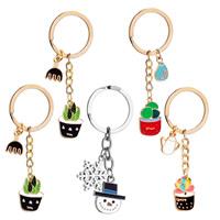 Zinklegierung Puzzle Paar Schlüsselanhänger, mit Eisen Ring, plattiert, verschiedene Stile für Wahl & Emaille, frei von Blei & Kadmium, 20x29mm,17x27mm, verkauft von Strang