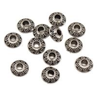 Zink Legierung Perlen Schmuck, Zinklegierung, antik silberfarben plattiert, frei von Blei & Kadmium, 6.5x3.5mm, Bohrung:ca. 1.5mm, 10PCs/Tasche, verkauft von Tasche