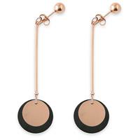 Titanstahl Tropfen Ohrring, flache Runde, plattiert, für Frau, 15x1mm, 20x1mm, 40mm, 3PaarePärchen/Menge, verkauft von Menge