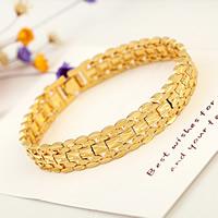 Unisex-Armband & Bangle, Messing, 24 K vergoldet, Blume Schnitt, frei von Nickel, Blei & Kadmium, 12mm, verkauft per ca. 8 ZollInch Strang