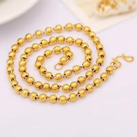 Messing Halskette, 24 K vergoldet, Kugelkette & für Frau, frei von Nickel, Blei & Kadmium, 6mm, verkauft per ca. 19.5 ZollInch Strang