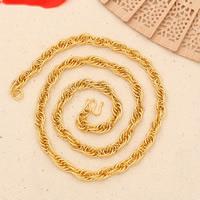 Messing Halskette, 24 K vergoldet, für Frau, frei von Nickel, Blei & Kadmium, 6mm, verkauft per ca. 21.5 ZollInch Strang