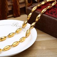 Messing Halskette, 24 K vergoldet, für den Menschen, frei von Nickel, Blei & Kadmium, 6mm, verkauft per ca. 23.5 ZollInch Strang