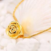 Messing Schmuckperlen, Blume, 24 K vergoldet, frei von Nickel, Blei & Kadmium, 15x15mm, Bohrung:ca. 2-5mm, verkauft von PC