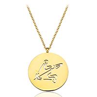 Edelstahl Schmuck Halskette, mit Verlängerungskettchen von 1.5Inch, Schüze, goldfarben plattiert, Mit Verpackungskasten & Oval-Kette & für Frau & hohl, 25x29mm, 2mm, verkauft per ca. 20 ZollInch Strang