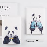 Notizbuch, PU Leder, mit Papier, Rechteck, verschiedene Muster für Wahl, 145x217x20mm, verkauft von PC
