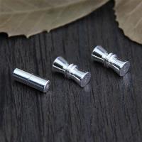925 Sterling Silber Schraubschließe, verschiedene Stile für Wahl, Bohrung:ca. 1mm, 3PCs/Menge, verkauft von Menge