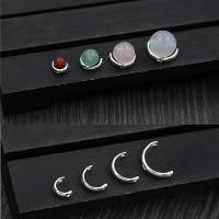 925 Sterling Silber Perlen Einstellung, verschiedene Größen vorhanden, Bohrung:ca. 1mm, verkauft von Menge