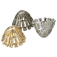 Zinklegierung Perlenkappe, plattiert, keine, frei von Blei & Kadmium, 19x13mm, Bohrung:ca. 1mm, 10PCs/Tasche, verkauft von Tasche
