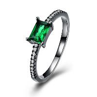 comeon® Finger-Ring, Messing, metallschwarz plattiert, verschiedene Größen vorhanden & für Frau & mit kubischem Zirkonia, frei von Nickel, Blei & Kadmium, 2mm, verkauft von PC