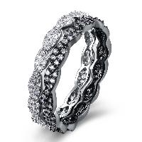 comeon® Finger-Ring, Messing, plattiert, verschiedene Größen vorhanden & für Frau & mit kubischem Zirkonia, frei von Nickel, Blei & Kadmium, 5mm, 2PCs/setzen, verkauft von setzen