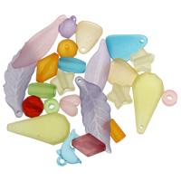 Acryl gemischt, 78.5x3.5mm-13.5x40x4.5mm, Bohrung:ca. 2mm, 500G/Tasche, verkauft von Tasche