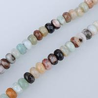 Amazonit Perlen, Rondell, facettierte, 6x8mm, Bohrung:ca. 1mm, ca. 76PCs/Strang, verkauft per ca. 15 ZollInch Strang